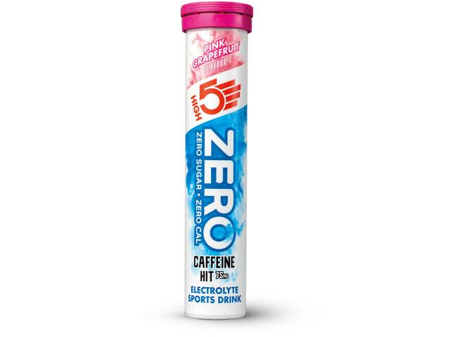 High5 Zero Caffeine Hit Bevanda sportiva elettrolitica Tabs 20 pezzi, Pink Grapefruit